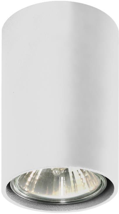 Lampex Simba biały 483/A oprawa stropowa natynkowa nowoczesna biała owalna 1x40W GU10 6cm
