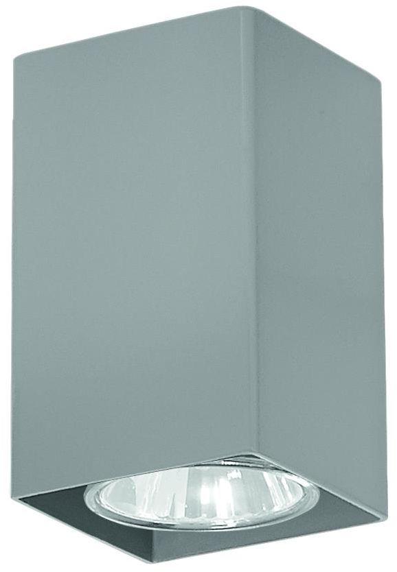 Lampex Nero popiel 499/A oprawa natynkowa nowoczesna 1x40W GU10 10cm