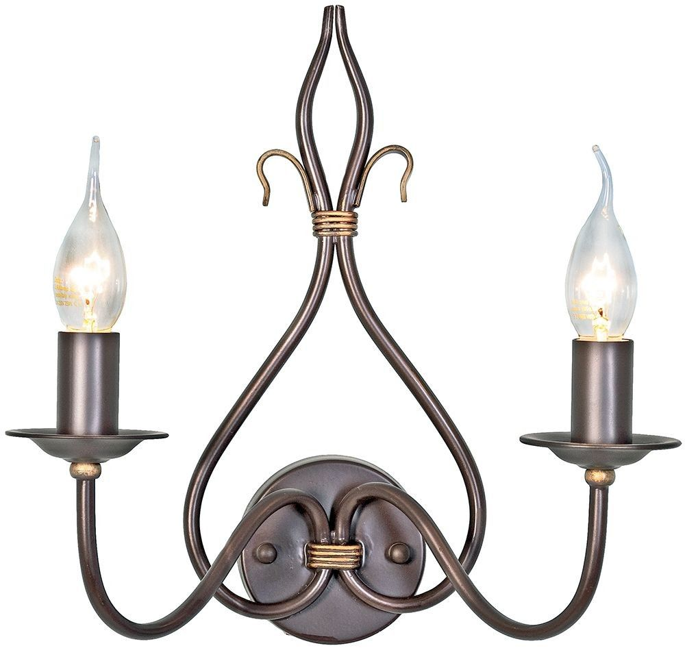 Windemere Rust And Gold - Elstead Lighting - kinkiet klasyczny