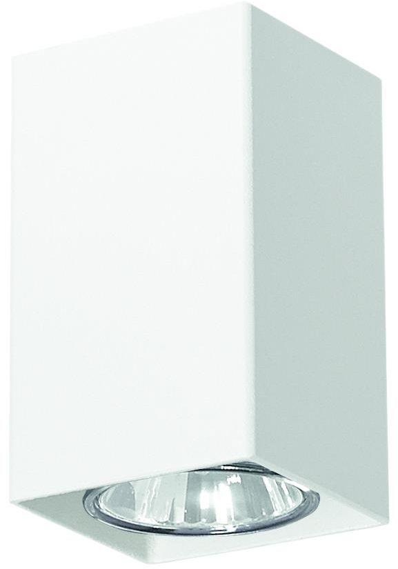 Lampex Nero biała 499/C oprawa stropowa natynkowa biała nowoczesna 1x40W GU10 10cm