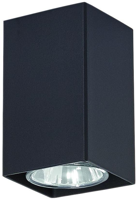 Lampex Nero czarny 499/G oprawa stropowa natynkowa czarna nowoczesna 1x40W GU10 10cm
