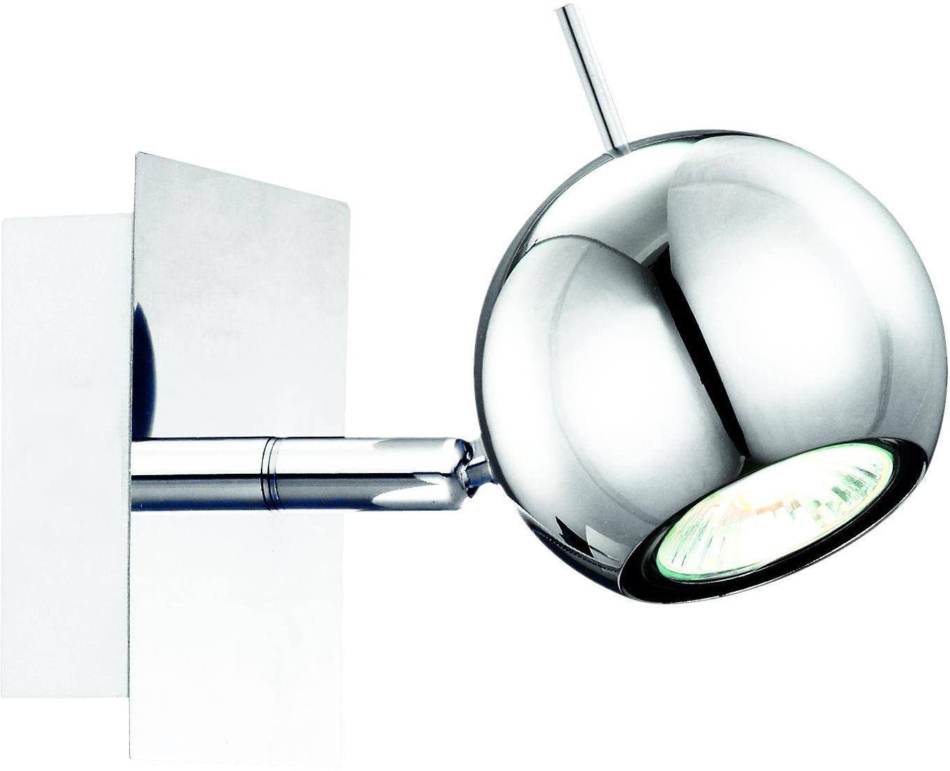Lampex Vigo 501/1 kinkiet lampa ścienna nowoczesna okrągły chromowany reflektor 1x50W GU10 10cm