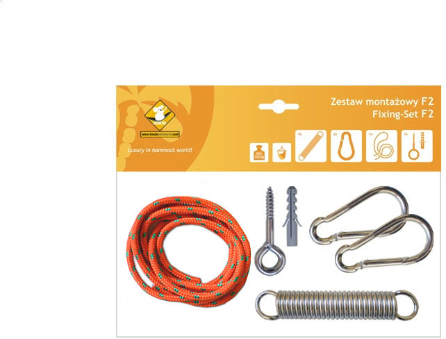 Zestaw montażowy F2 do foteli hamakowych, pomarańczowy koala/zf2