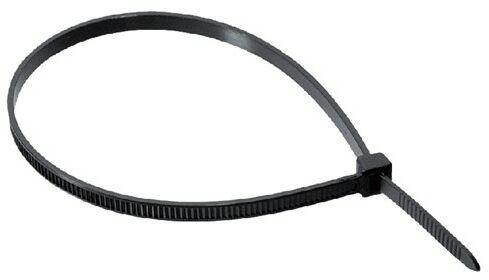 Opaska zaciskowa trytka opaska kablowa 370X3,6 czarna UV
