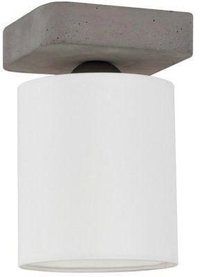 Lampa sufitowa GENTLE 1-punktowa lampa lampa szara betonowa podstawa z materiałowym abażurem 2321136