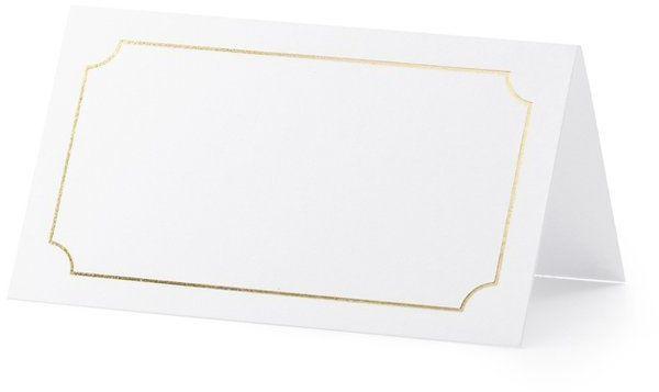 Wizytówki na stół złota ramka 10 sztuk WS8-019ME