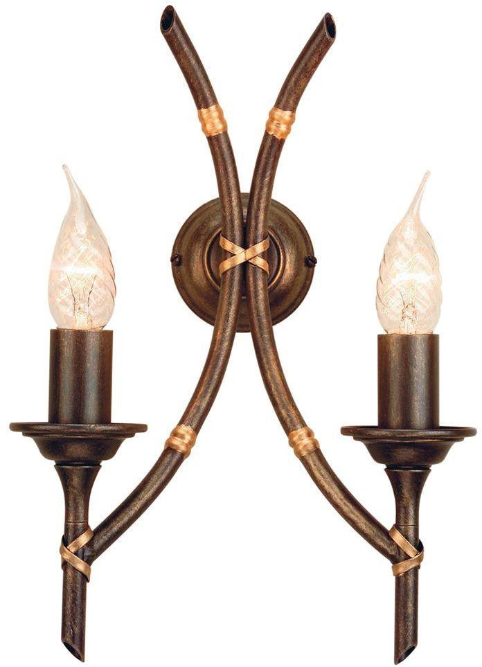 Bamboo Bronze Patina - Elstead Lighting - kinkiet klasyczny