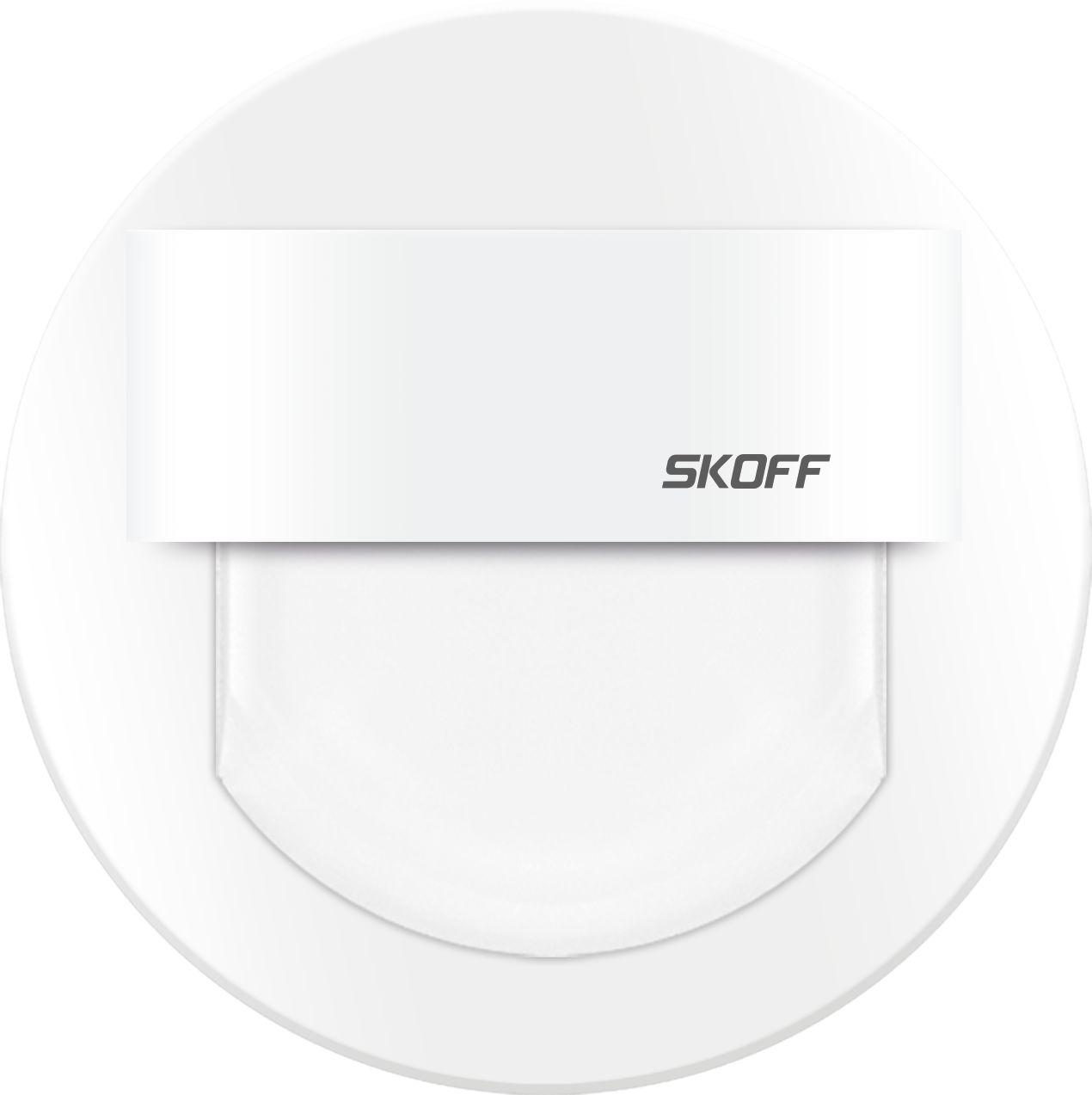 Oprawa schodowa Rueda Skoff okrągła oprawa w kolorze białym