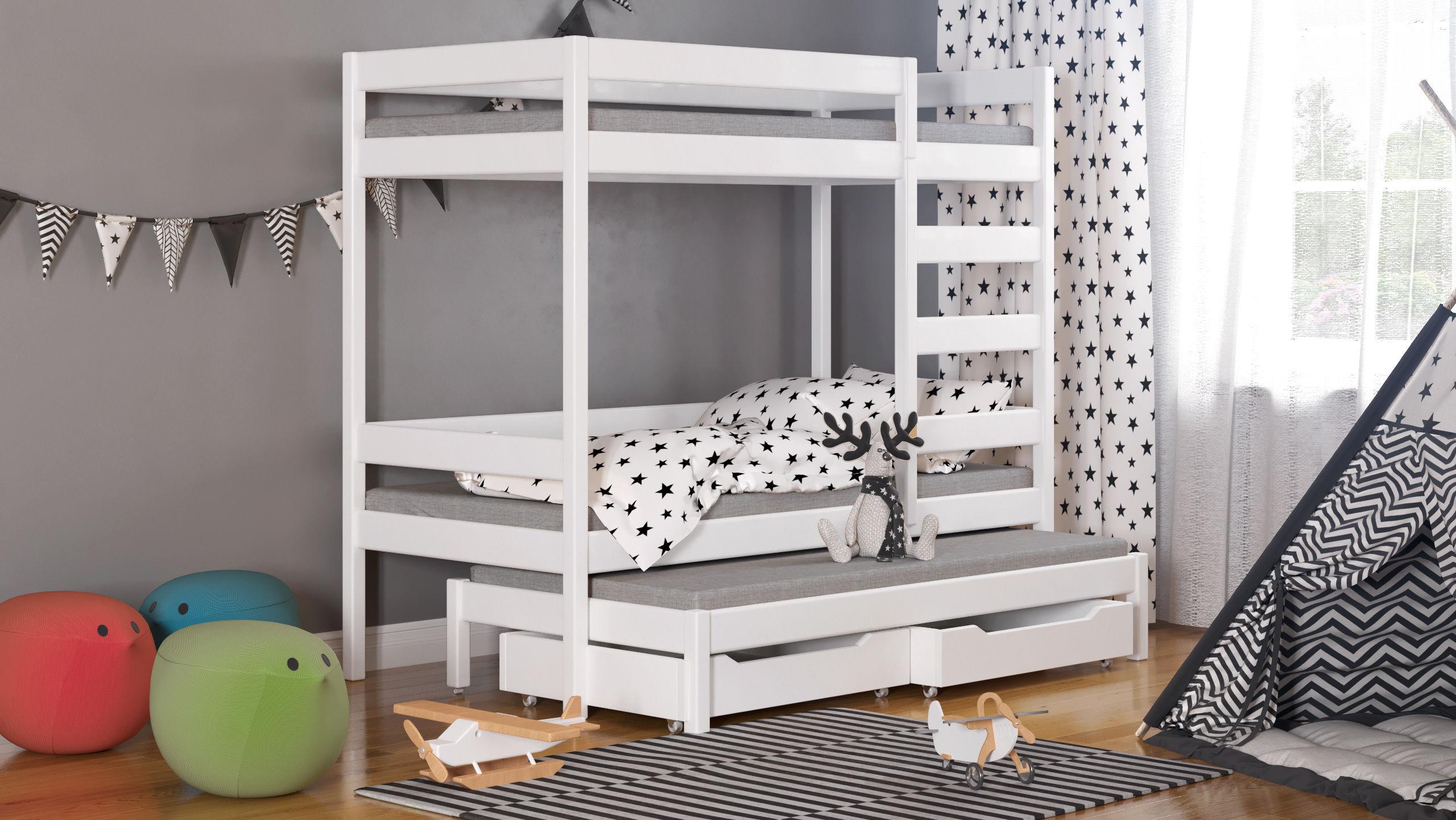 Łóżko dziecięce piętrowe Trimi T1