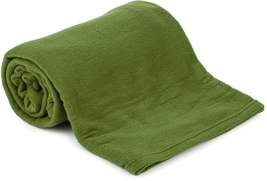 Koc pluszowy UNI zielony, 150 x 200 cm