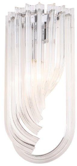 Kinkiet Plaza W0230 MAXlight szklana oprawa w dekoracyjnym stylu