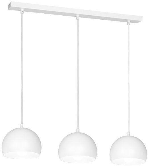Lampa wisząca Luminex Sool 3 x 60 W E27 biała
