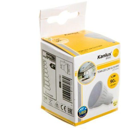 Żarówka LED 1,2W TOMI LED1,2W GU10-WW ciepło biała 22708