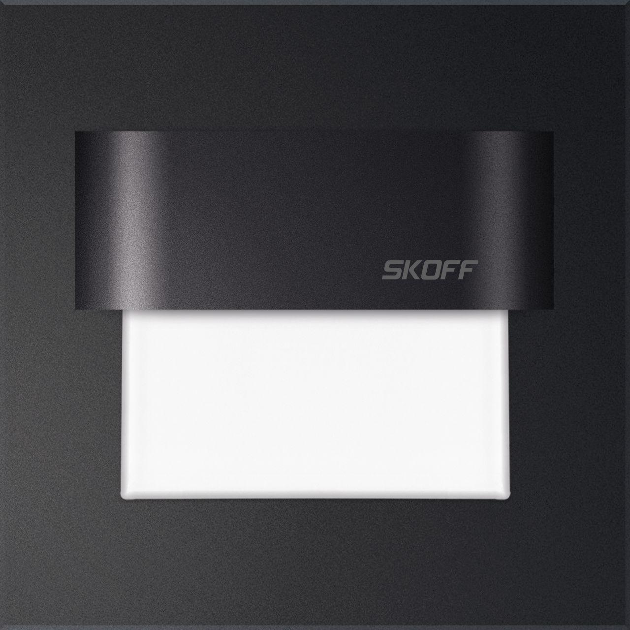 Oprawa schodowa Tango Skoff 10V kwadratowa oprawa w kolorze czarnym