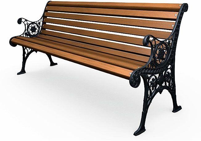 Żeliwna ławka parkowa z ornamentem Visteria 5V