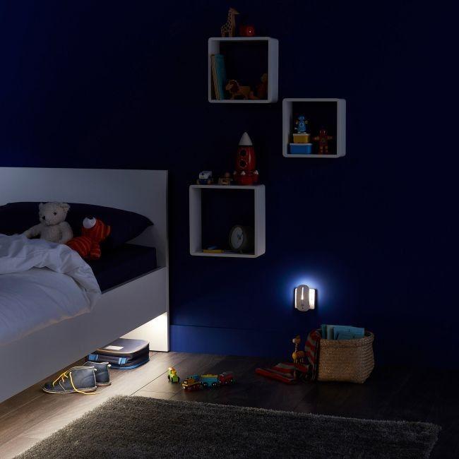 Lampa nocna LED Colours Forks 4000 K z czujnikiem ruchu white