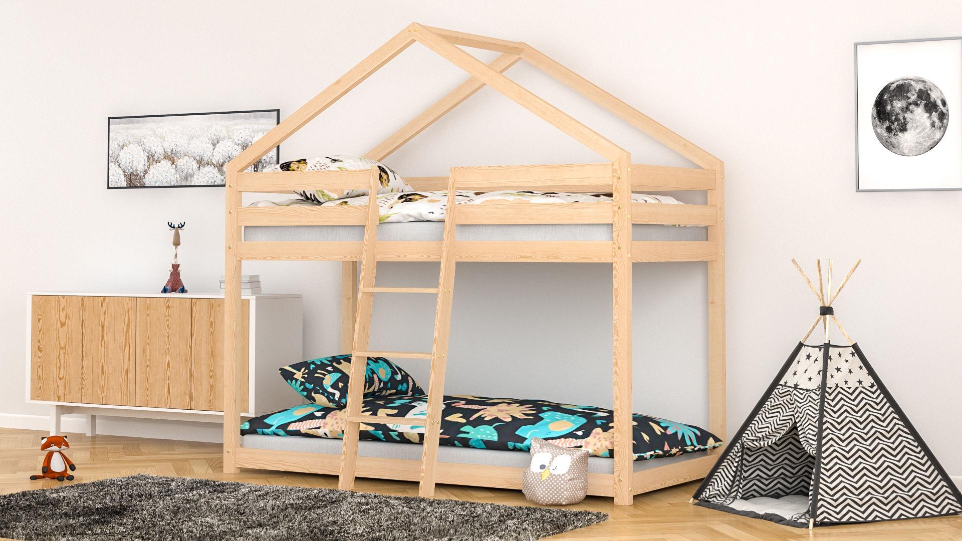 Łóżko piętrowe dla dzieci domek Lisa