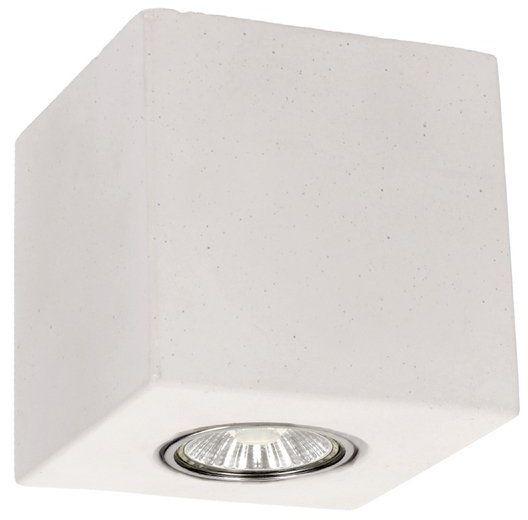 Lampa sufitowa Concrete Dream 5 W betonowa kolor biały 2576137