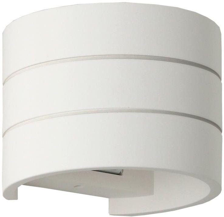 Lampex Irwin 702/1 BIA kinkiet lampa ścienna biała nowoczesna gipsowa 1x40W G9 14cm