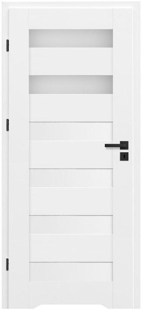 Skrzydło drzwiowe z podcięciem wentylacyjnym Talana Białe 80 Lewe Nawadoor