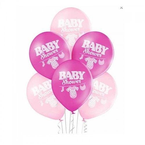 Balony na Baby Shower dla dziewczynki, 6 szt.