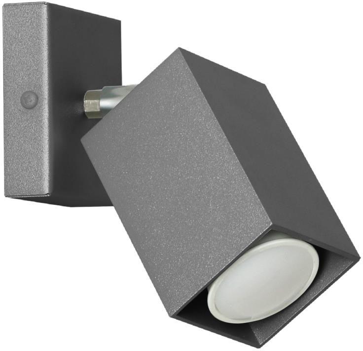 Lampex Nero czarny 718/K CZA kinkiet lampa ścienna nowoczesna czarny metal 1x40W GU10 17cm