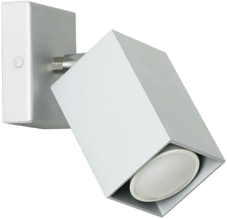 Lampex Nero popiel 718/K POP kinkiet lampa ścienna nowoczesna metal popiel 1x40W GU10 17cm