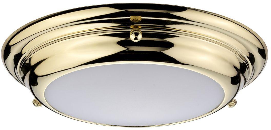 Welland Led Polished Brass - Elstead Lighting - lampa sufitowa łazienkowa