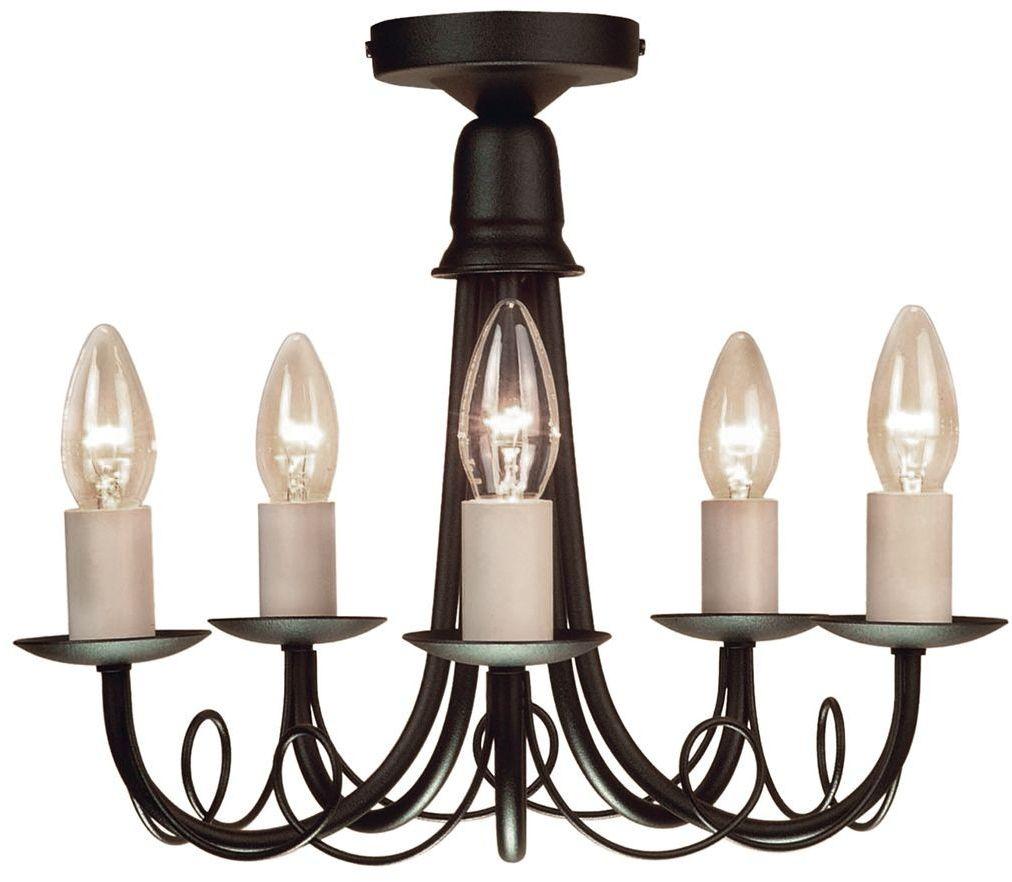 Minster Black - Elstead Lighting - lampa sufitowa klasyczna