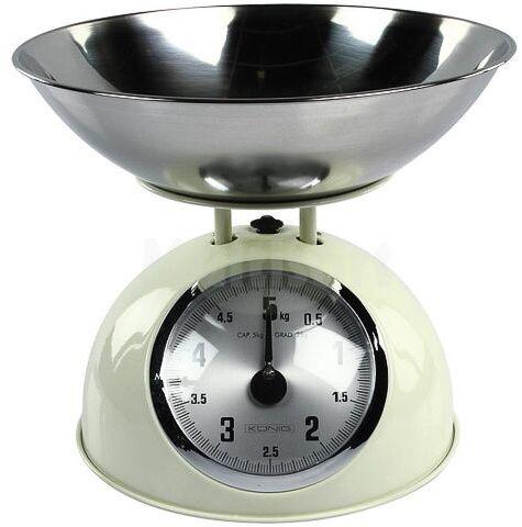 Waga kuchenna w stylu retro KS60 do 5kg kremowa
