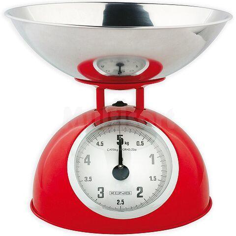 Waga kuchenna w stylu retro do 5kg czerwona