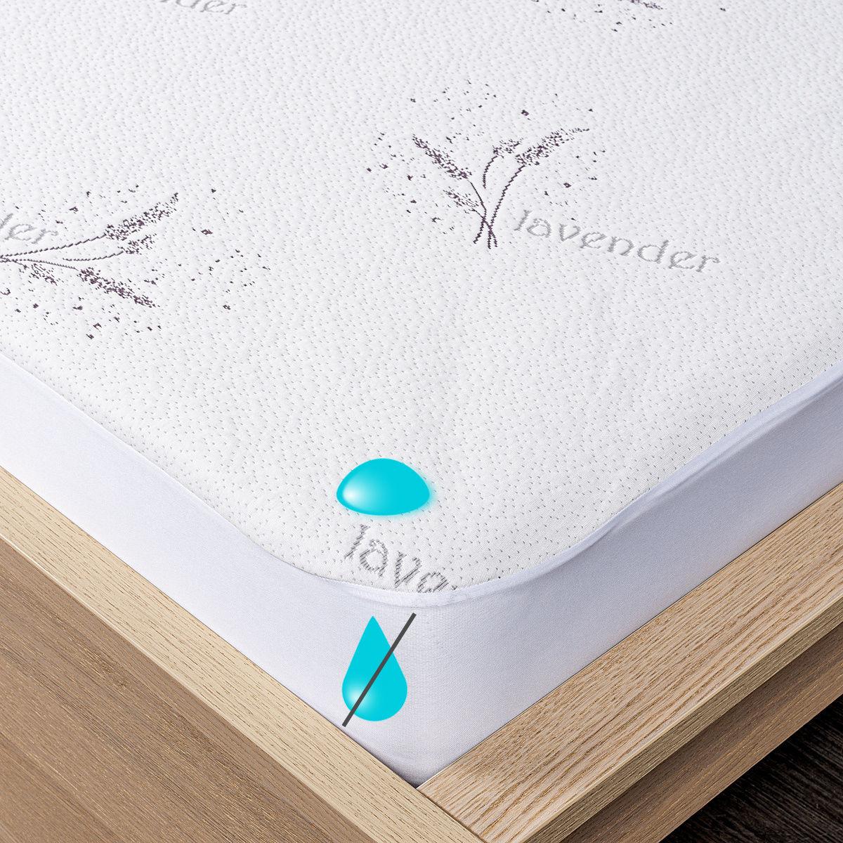 4Home Lavender Wodoodporny ochraniacz na materac z lamówką, 160 x 200 cm + 30 cm, 160 x 200 cm