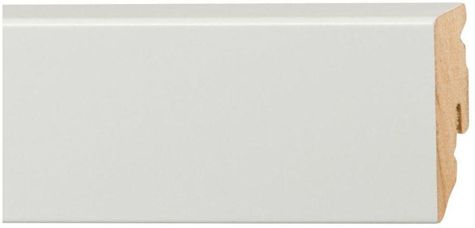 Listwa przypodłogowa mdf biała FU 51L Biała 50 mm Fn profile