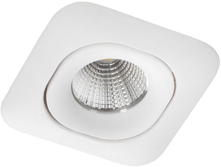 Oprawa sufitowa wpuszczana OVALO Q nowoczesna oprawa kwadratowa biała Lumifall