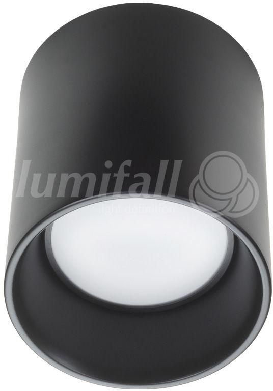 Oprawa sufitowa natynkowa CilindroLED II N barwa 4000K nowoczesna oprawa w kolorze czarnym Lumifall