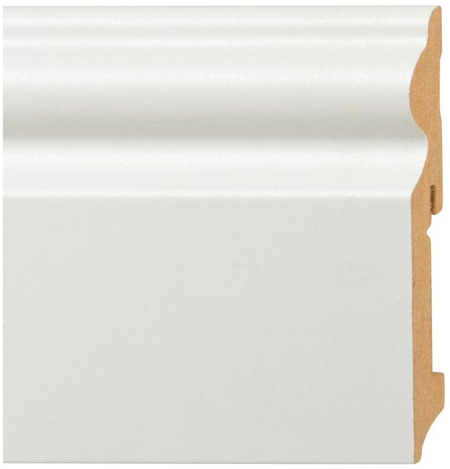 Listwa przypodłogowa mdf biała FU 116L Biała 115 mm Fn profile