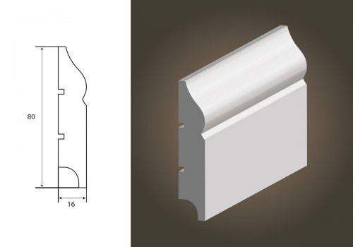 LISTWA LAGRUS - Atena 80 (80x16) * Długość - 244 cm*