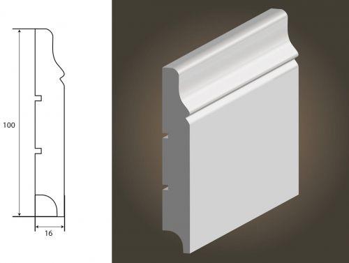 LISTWA LAGRUS - Krym 100 (100x16) * Długość - 244 cm*