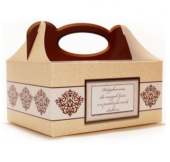 Pudełko na ciasto weselne Słodkie Podziękowania 1 sztuka PUDE-1x