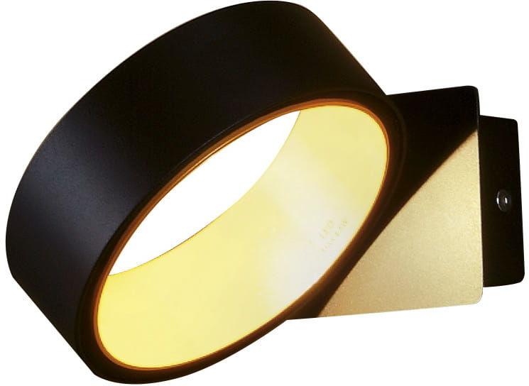 Maxlight Tokyo I W0167 kinkiet lampa ścienna czarny złoty metal 3000K 1x4,5W LED 12,5cm