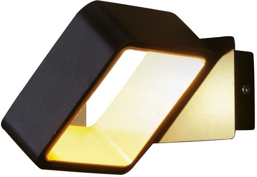 Maxlight Tokyo II W0169 kinkiet lampa ścienna metal czarno-złoty 1x4,5W LED 3000K 12cm
