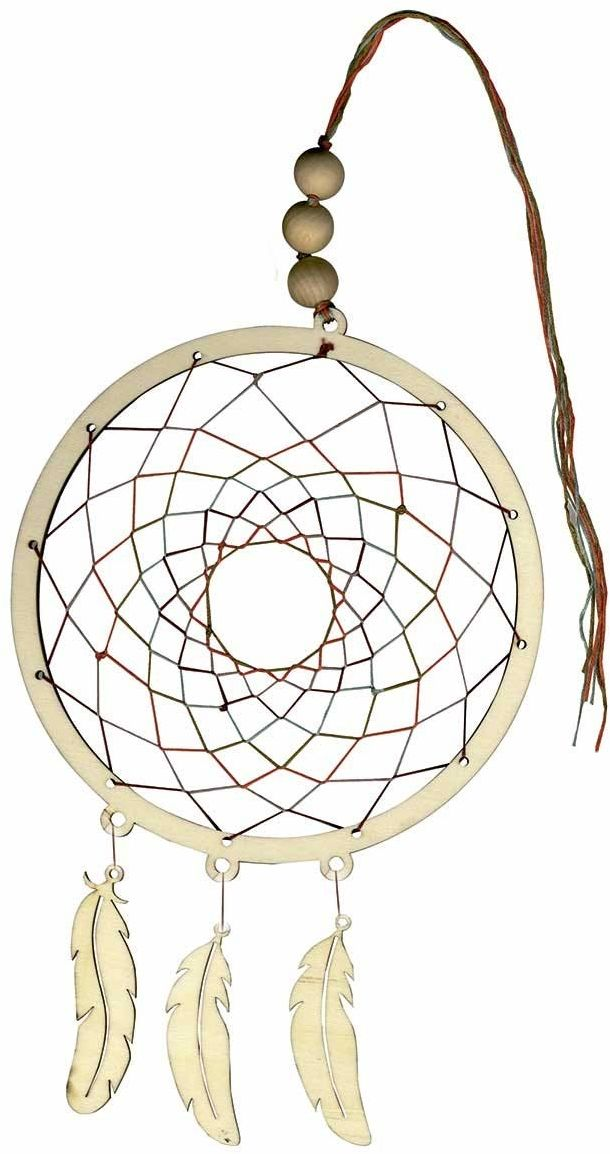 Artemio 14002068 zestaw łapaczy snów, drewno, beżowy, 31 x 1 x 37 cm