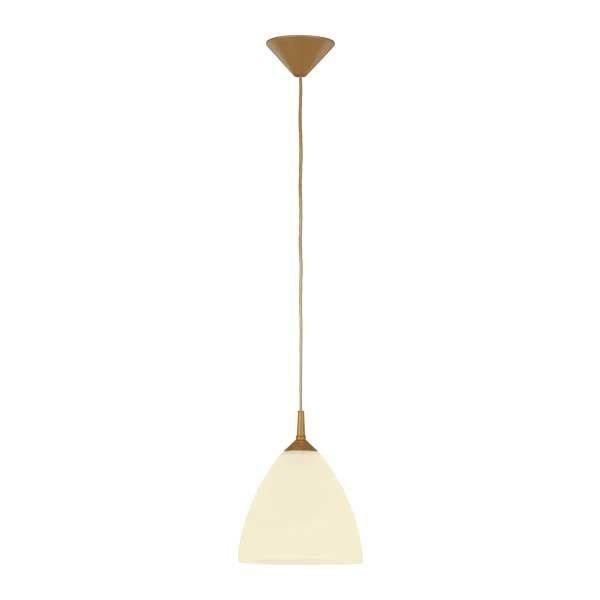 Lampa wisząca zwis BARTEK złoty/ecru śr. 23cm