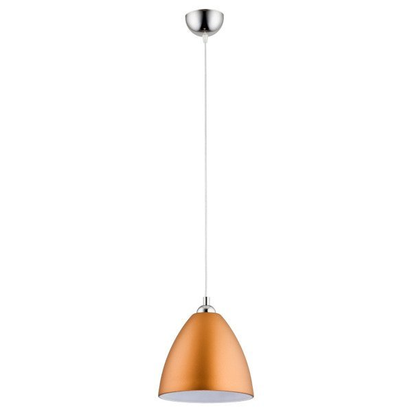Lampa wisząca zwis DAWID złoty/chrom śr. 23cm