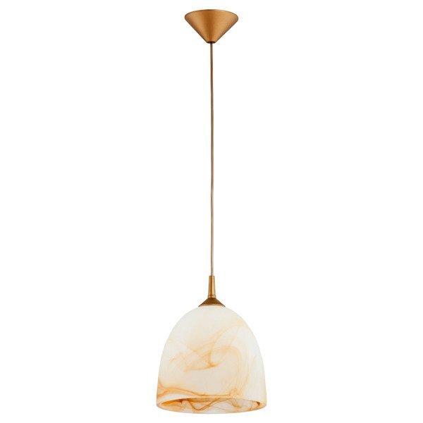 Lampa wisząca zwis BARTEK biały/złotyśr. 23cm