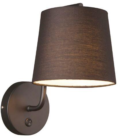 Maxlight CHICAGO W0194 kinkiet lampa ścienna metalowa abażur tkanina czarny 1x40W E27 32cm