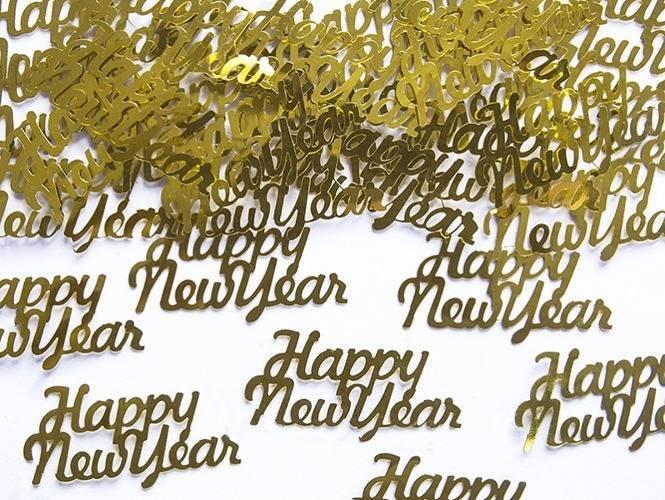 Konfetti złote Happy New Year - 3 g