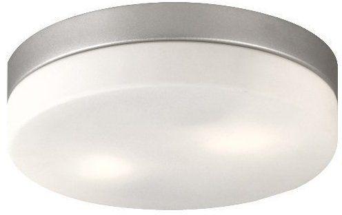 Globo plafon lampa sufitowa Vranos 32112 aluminium srebrny metalik, szkło opalizowane, IP44 24cm