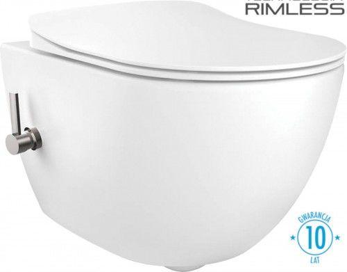 Miska WC rimless z funkcją bidetu 51x36x35,5 cm ze zintegrowaną baterią mieszaczową