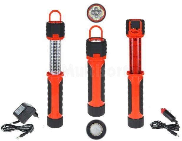 Akumulatorowa lampa warsztatowa 30+4+8 LED